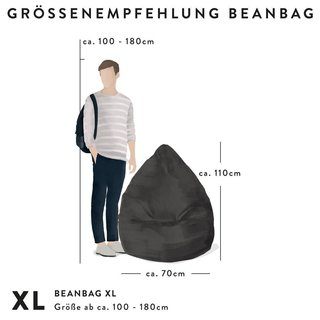 BeanBag EASY XL blu scuro