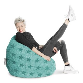 BeanBag FLUFFY STARS XL turchese